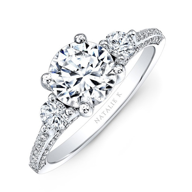 nk29609 18w three qrtr - Engagement Rings