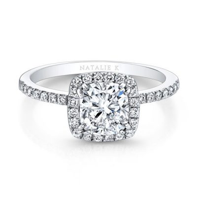 fm26921 18w front 1 1 400x400 - 18K WHITE GOLD SQUARE HALO ENGAGEMENT RING FM26921-18W