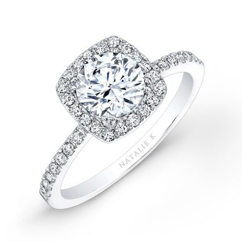 nk26921 18w 500x499 - 18K WHITE GOLD SQUARE HALO ENGAGEMENT RING FM26921-18W