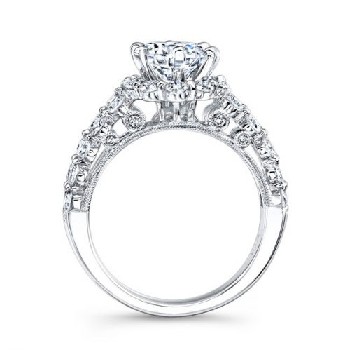 ITEM2A 500x499 - 18K WHITE GOLD DOUBLE ROW SHANK DIAMOND ENGAGEMENT RING NK24384-18W