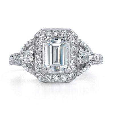 nk16893eng 1 3 1 400x400 - 14K WHITE GOLD THREE STONE DIAMOND ENGAGEMENT RING NK16893-W