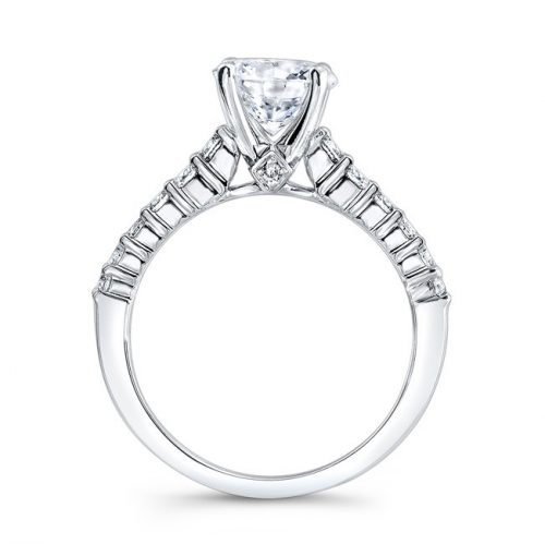 nk29368 18w profile 1 500x499 - 18K WHITE GOLD ELONGATED SHANK DIAMOND ENGAGEMENT RING NK29368-18W