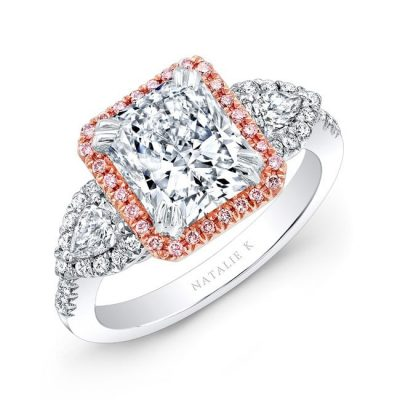 17470 wr 1 3 400x400 - 18K WHITE AND ROSE GOLD PINK DIAMOND ENGAGEMENT RING