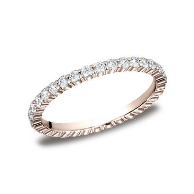 552623RG P1 400x400 - DIAMONDS ROSE GOLD 2MM DIAMOND BAND