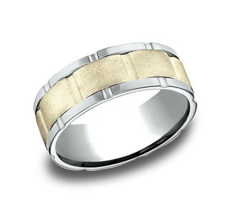CF208546 P1 - DESIGNS WHITE GOLD 8MM BAND