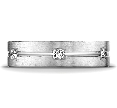 CF526828WG P3 - DIAMONDS WHITE GOLD 6MM DIAMOND BAND