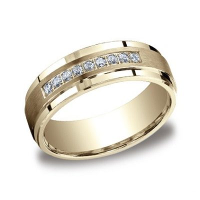CF67380YG P1 400x400 - DIAMONDS YELLOW GOLD 7MM DIAMOND BAND