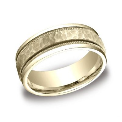 CFYB158309YG P1 400x400 - DESIGNS YELLOW GOLD 8MM BAND