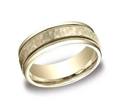 CFYB158309YG P1 - DESIGNS YELLOW GOLD 8MM BAND