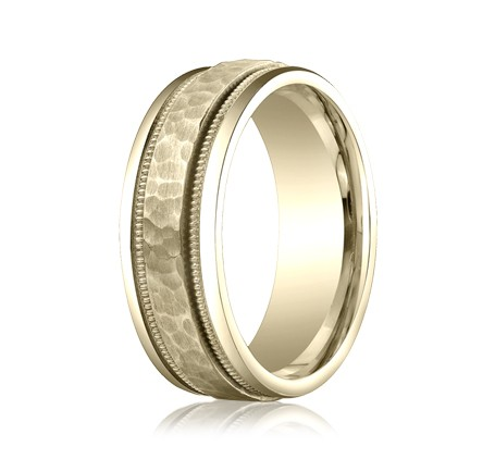 CFYB158309YG P2 1 - DESIGNS YELLOW GOLD 8MM BAND