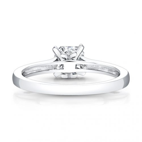 fm26930 18w back 500x500 - 18K WHITE GOLD SINGLE BEZEL-SET DIAMOND ACCENT SOLITAIRE ENGAGEMENT RING