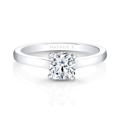 fm26930 18w front 1 1 400x400 - 18K WHITE GOLD SINGLE BEZEL-SET DIAMOND ACCENT SOLITAIRE ENGAGEMENT RING