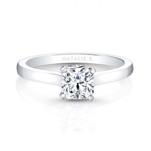 fm26930 18w front 1 1 500x500 - 18K WHITE GOLD SINGLE BEZEL-SET DIAMOND ACCENT SOLITAIRE ENGAGEMENT RING