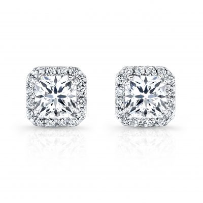 fm26952 18w 400x400 - 18K WHITE GOLD DIAMOND HALO STUD EARRINGS