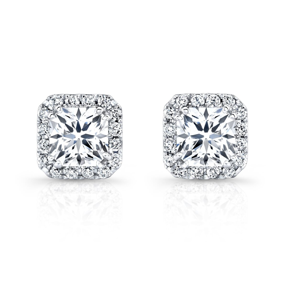 great diamond earrings star in princess l designs cut of square stud northern