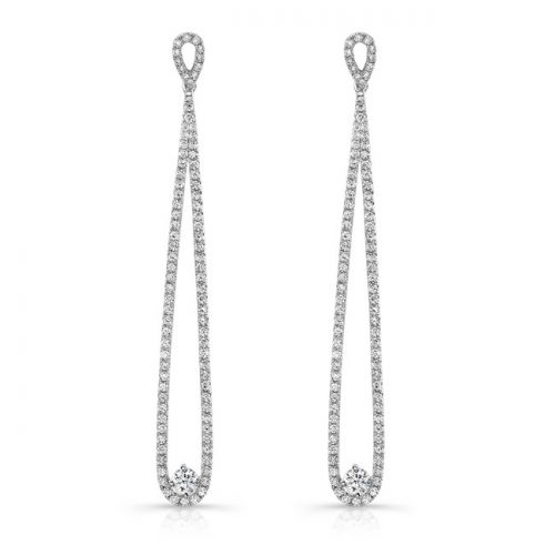 fm29008 18 500x500 - 18K WHITE GOLD INFINITY LOOP DIAMOND EARRINGS