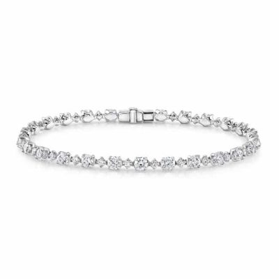 fm29031 18 1 400x400 - 18K WHITE GOLD DIAMOND TENNIS BRACELET