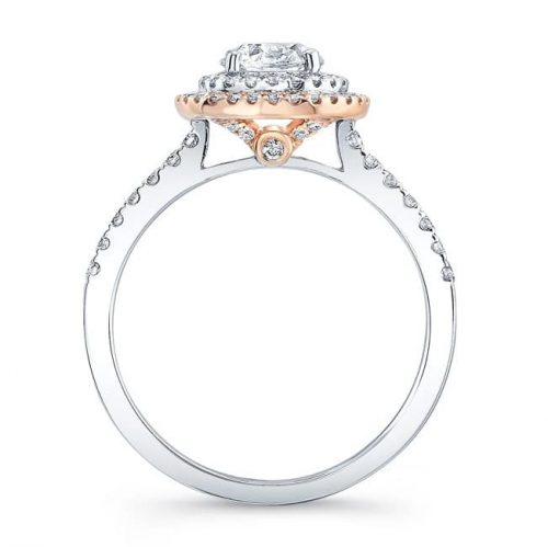 fm31335 18wr profile 500x499 - 18K WHITE AND ROSE GOLD WHITE DIAMOND DOUBLE HALO ENGAGEMENT RING