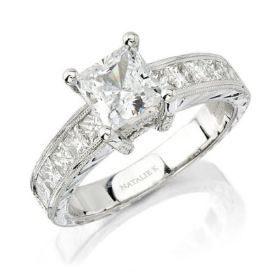 nk 400x400 - 14K WHITE GOLD PRINCESS CUT DIAMOND ENGAGEMENT RING