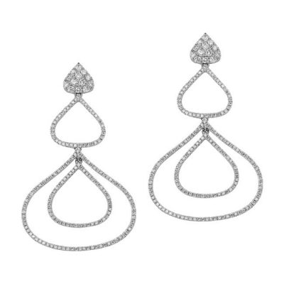 nk19126 w rt 3 400x400 - 18K WHITE GOLD PAVE DIAMOND DROP EARRINGS NK19126W