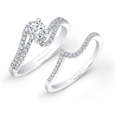 nk25362we w 4 400x400 - 14K WHITE GOLD SPLIT SWIRL SHANK PRONG DIAMOND BRIDAL SET