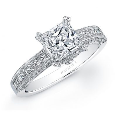 yo 400x400 - 18K WHITE GOLD PRINCESS CUT DIAMOND ENGAGEMENT SEMI MOUNT RING