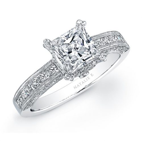 yo 500x498 - 14K WHITE GOLD PRINCESS CUT DIAMOND ENGAGEMENT RING