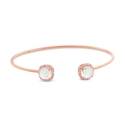 0.14CT DIAMOND 3.30CT WHITE TOPAZ 14K ROSE GOLD BANGLE 500x500 - 0.14CT DIAMOND & 3.30CT WHITE TOPAZ 14K ROSE GOLD BANGLE SC36213216