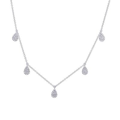 0.27CT 14K WHITE GOLD DIAMOND PAVE NECKLACE 400x400 - 0.27CT 14K WHITE GOLD DIAMOND PAVE NECKLACE SC55002076