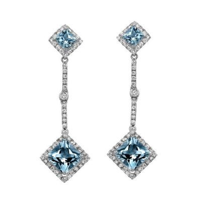 14K WHITE GOLD AQUAMARINE CENTER DIAMOND EARRINGS 400x400 - 14K WHITE GOLD AQUAMARINE CENTER DIAMOND EARRINGS NK18152AQ-W