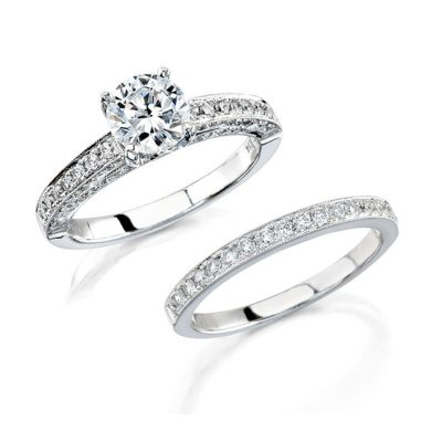 14K WHITE GOLD PAVE BEZEL DIAMOND BRIDAL SET NK12061WE W 400x400 - 14K WHITE GOLD PAVE BEZEL DIAMOND BRIDAL SET NK12061WE-W