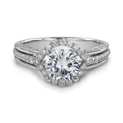 HALO 400x400 - 14K WHITE GOLD HALO DIAMOND ENGAGEMENT RING NK18775-W- MK BRIDAL
