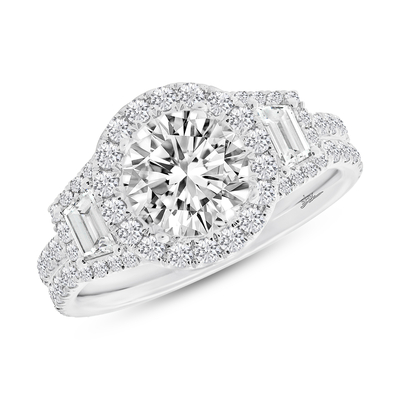 SC28023574 1 - 1.55CT 18K WHITE GOLD DIAMOND SEMI-MOUNT RING FOR 1.75CT CENTER