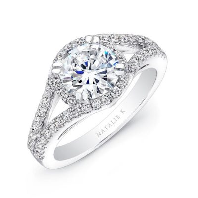 nk18926we w three qrtr 3 400x400 - 18K WHITE GOLD SPLIT SHANK HALO DIAMOND ENGAGEMENT RING