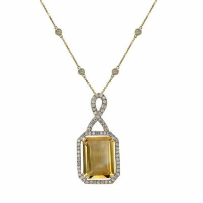 nk19375ct y 3 1 400x400 - 14K YELLOW GOLD CITRINE DIAMOND NECKLACE
