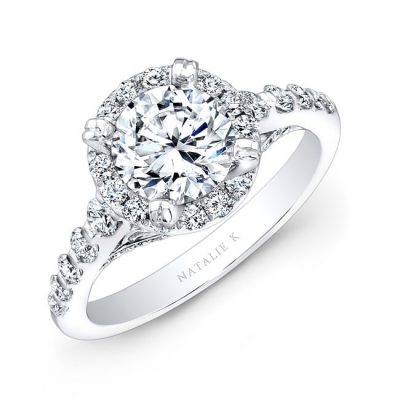 nk25369 w three quarter 1 2 3 400x400 - 18K WHITE GOLD HALO DIAMOND ENGAGEMENT RING