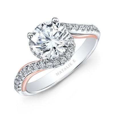 nk33178 18wr 400x400 - 18K WHITE AND ROSE GOLD TWISTED DIAMOND ENGAGEMENT RING