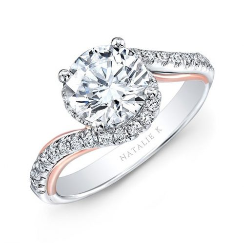 nk33178 18wr 500x499 - 18K WHITE AND ROSE GOLD TWISTED DIAMOND ENGAGEMENT RING