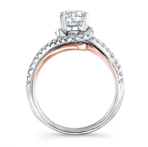 nk33178 18wr profile 500x499 - 18K WHITE AND ROSE GOLD TWISTED DIAMOND ENGAGEMENT RING