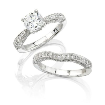 nk7194we pl 3 400x400 - 14K WHITE GOLD PAVE DIAMOND BRIDAL SET NK7194WE-W