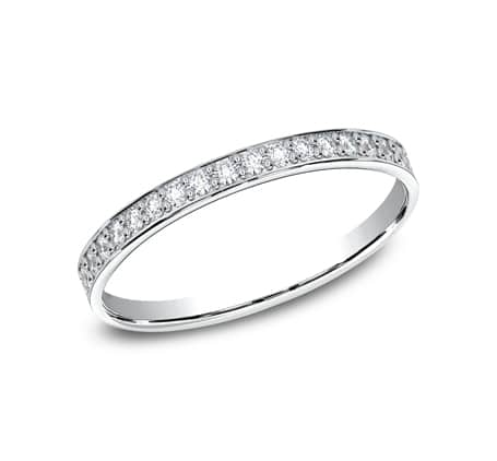 522800HFPT P1 - PLATINUM 2MM PAVE SET DIAMOND BAND 522800HFPT