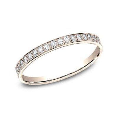 522800HFR P1 400x400 - 14K  ROSE GOLD 2MM PAVE SET DIAMOND BAND 522800HFR