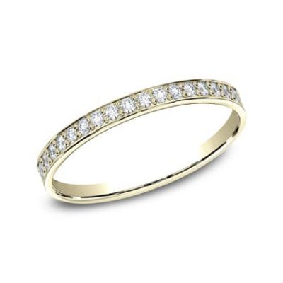 522800Y P1 400x400 - YELLOW GOLD 2MM  PAVE SET DIAMOND BAND 522800Y