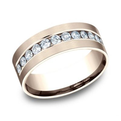 CF528531R P1 400x400 - ROSE GOLD 8MM CHANNEL SET DIAMOND BAND