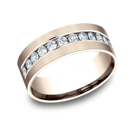 CF528531R P1 - ROSE GOLD 8MM CHANNEL SET DIAMOND BAND