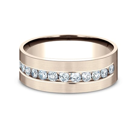 CF528531R P3 - ROSE GOLD 8MM CHANNEL SET DIAMOND BAND