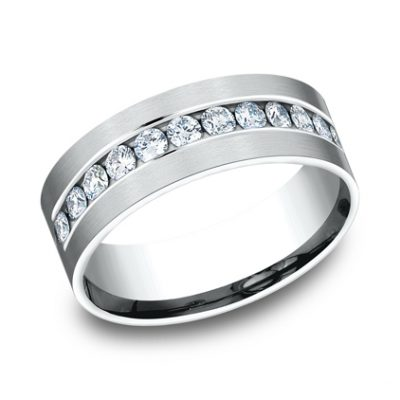 CF528531W P1 400x400 - WHITE GOLD 8MM CHANNEL SET DIAMOND BAND
