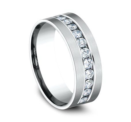 CF528531W P2 - WHITE GOLD 8MM CHANNEL SET DIAMOND BAND