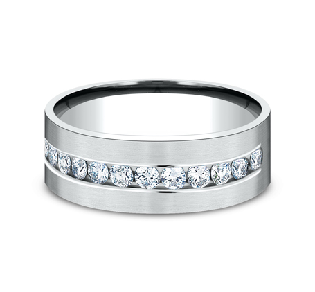 CF528531W P3 - WHITE GOLD 8MM CHANNEL SET DIAMOND BAND