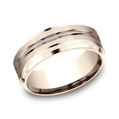 CF68484R P1 400x400 - 8MM ROSE GOLD BAND  CF68484R
